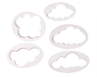 5 Piece set of Cloud Cookie Cutters