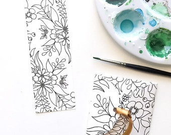 Coloring Bookmark and Envelope