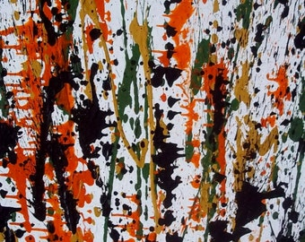 Vintage Abstract Expressionist Drip/SplatterAction Painting