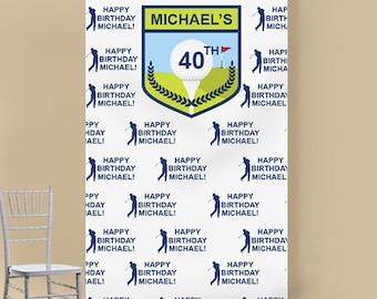 Golf Personalized Photo Booth Backdrop (ENWFJM775018)