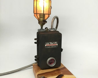 reclaimed industrial lighting. industrial desk lamp lighting steampunk reclaimed trouble cage e