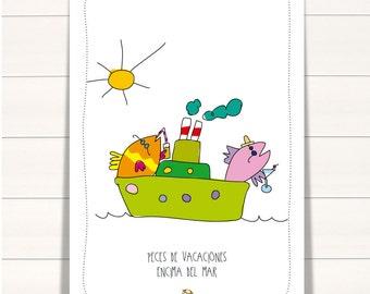 Holiday fish - Poster