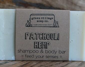 Patchouli Hemp All Natural Bar Shampoo