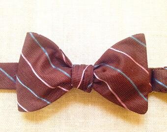 Chocolate  (self tie silk bow tie)