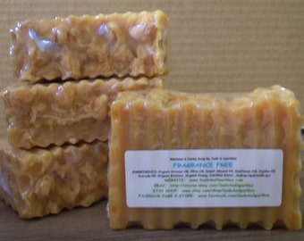 Fragrance Free - Beeswax & Honey Soap - Large 5-6oz. Each