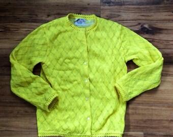 Sunny Yellow Cardigan