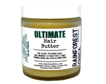 Ultimate Hair Butter - deep treatment, leave-in, natural hair, curls, chemically treated hair