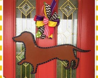 Dachshund Wiener Dog Door Hanger Front Door Dog Lover Pet