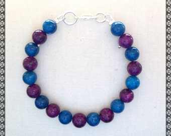 blue bracelet, purple bracelet, blue and purple bracelet, purple and blue bracelet