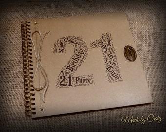 Personalised 21st Birthday Album, Photo Album, Scrapbook, Birthday Guestbook, 18th/21st/30th/40th/50th/60th/70th/80th, 18/20/30/40/50/60/70