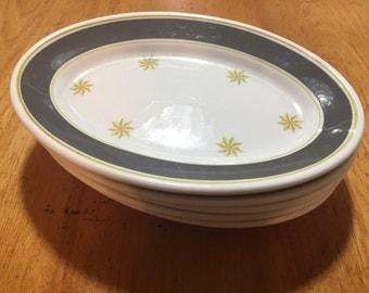 5 jackson china starburst platters midcentury restaurant ware