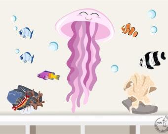 wandtattoo aquarium ii set kinder wandsticker. Black Bedroom Furniture Sets. Home Design Ideas