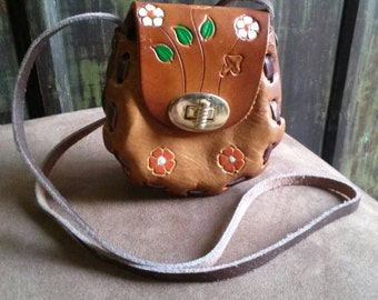 Vinatage 'Mini' Mexico Leather Purse