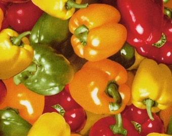 RJR Fabrics Farmers Market 0884 01 Bell Peppers by the Yard