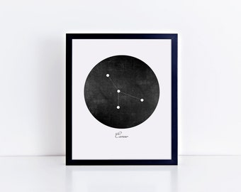 Cancer Zodiac Constellation Art Print • Buyable Frame Option