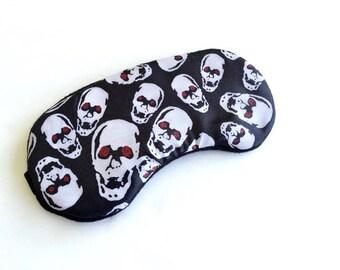 Skull Sleep Mask for Women Men Kids Skeleton Eye Mask For Travel, Shift Work.