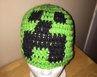 Crochet Green Creeper from Mine Craft