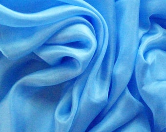 Silk Bellydance Veil Baby Blue Silk Belly Dance Veil