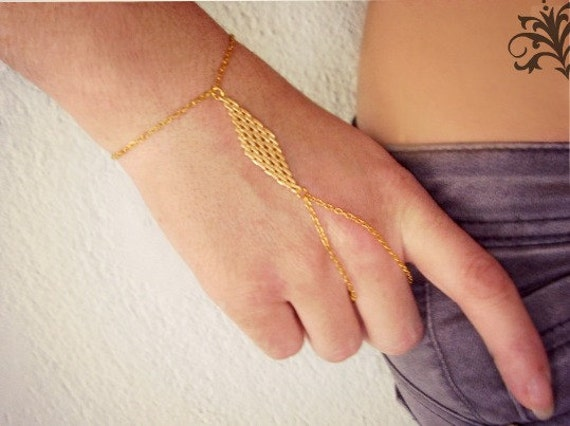 Items similar to Slave ring Gold ring bracelet Gold slave bracelet
