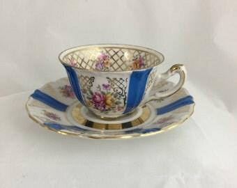 Royal Heidelberg Bavaria 'Winterling' Demi-Tasse Demitasse coffee cup and saucer porcelain