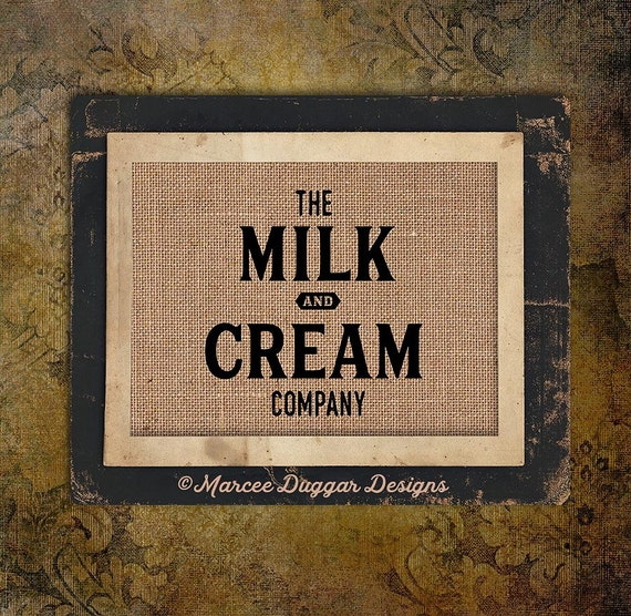 Milk & Cream | Vintage | Milk and Cream Company  | Country | Market Farm Fresh | #0217