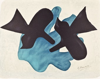 GEORGE BRAQUE - 'Pelias et nelee' - large limited edition vintage lithograph - c1988 (edition of 398. Pablo Picasso interest)