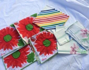 Vintage Vera Napkin lot..three prints 8 napkins , all Vera.