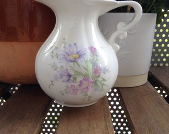 Vintage Hand Decorated Floral China Jug