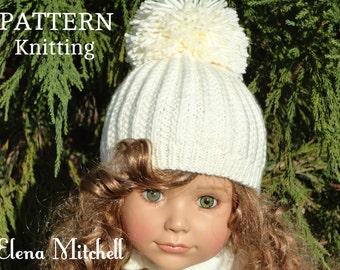 Knitting PATTERN Girls Beanie Women Hat Accessories Children Hat Knit Womens  Hats Toddler Beanie Knitted Toddler Hat Girls Hats Knit Pattern c49e43ab27