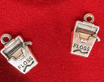 """5pc """"floss"""" charms in silver style (BC969)"""
