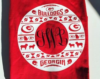 Georgia Bulldogs circle monogram