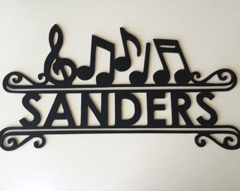Personalized metal sign...music