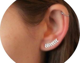 Ear cuff earrings, ear climbers, ear cuff, birthday gifts, ear cuffs, ear climber earrings, ear crawlers, climber earrings