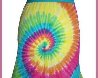 REDUCED SALE electrical batik Goa Cotton Jersey skirt hippie
