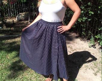 Full skirt,black,white polka dot,small, skirt