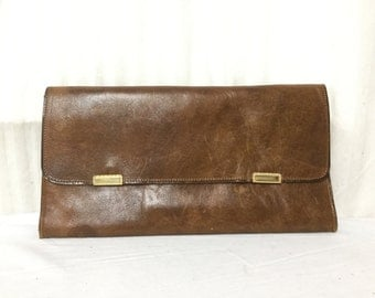 Leather Clutch, Organizer, Wallet Purse,brown,leather,clutch, Free shipping in the US
