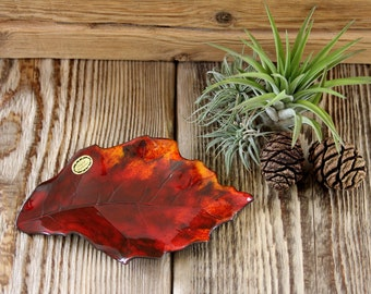 True leaf ceramic, autumn leaves, shell