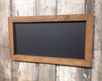 "12"" x 24"" Rustic Framed Chalkboard, Rustic Wedding Chalkboard, Kitchen Menu, Menu Board, Rustic Frame"