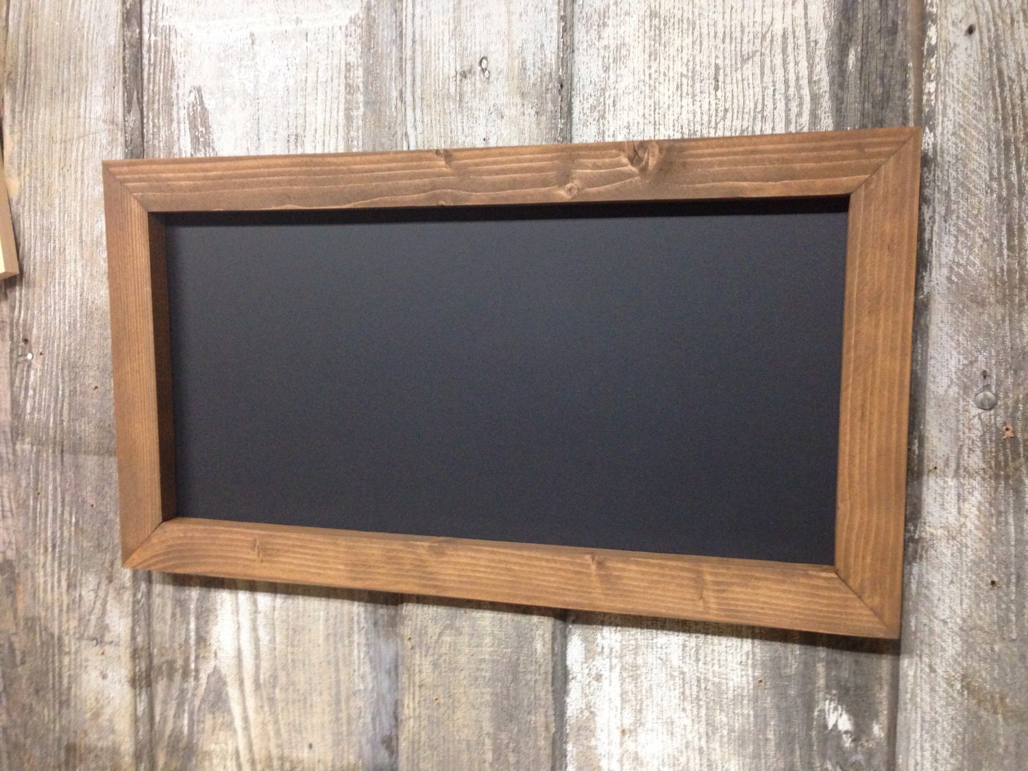 12 x 24 rustic framed chalkboard rustic wedding. Black Bedroom Furniture Sets. Home Design Ideas