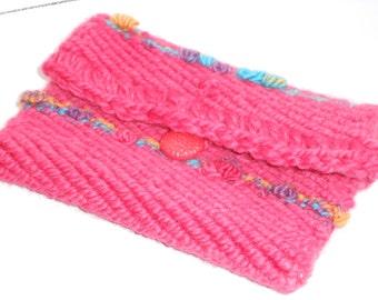 Pink Clutch Purse Wallet