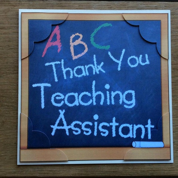 words to thank a teacher assistant | just b.CAUSE