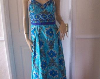 Paula Renoir of Mayfair Rare Authentic Vintage 60's Summer Sun Dress sz 8/10 * Pristine
