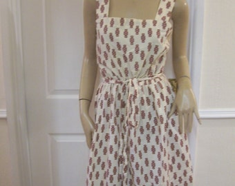 Unique Authentic Vintage Summer Sun Dress sz 10/12 Pristine