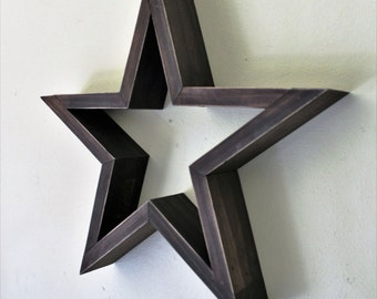 Wooden Star Wall Decor wood stars | etsy