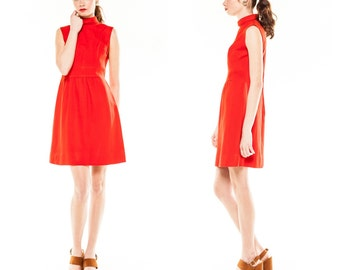 Vintage Red Sheath Dres