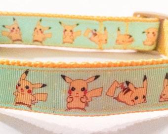 Pokemon Pikachu Inspired Dog Collar