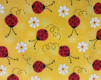 One Half Yard of Fabric Material - Little Ladybug