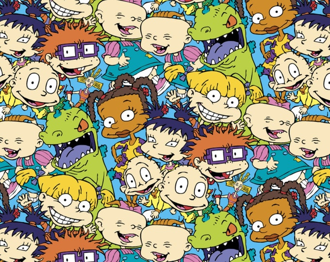 Nickelodeon - Rugrats Packed Characters - Cotton Woven - Springs Creative