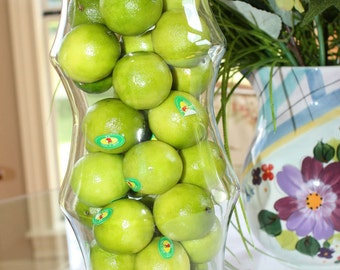 Artificial Faux Natural Limes 8 Pack