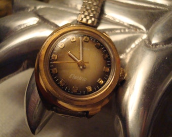 Vintage Ladies Timex Electric Watch - Flex Band - W. Germany - Works - Excellent Vintage Condition!!